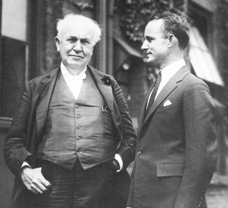 Napoleon Hill avec Thomas Edison