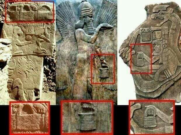 Les mystérieux «sacs à main» des Dieux : Tels que représentés dans l'ancienne Mésopotamie, dans plusieurs cultures en Amérique et à Göbekli Tepe en Turquieie